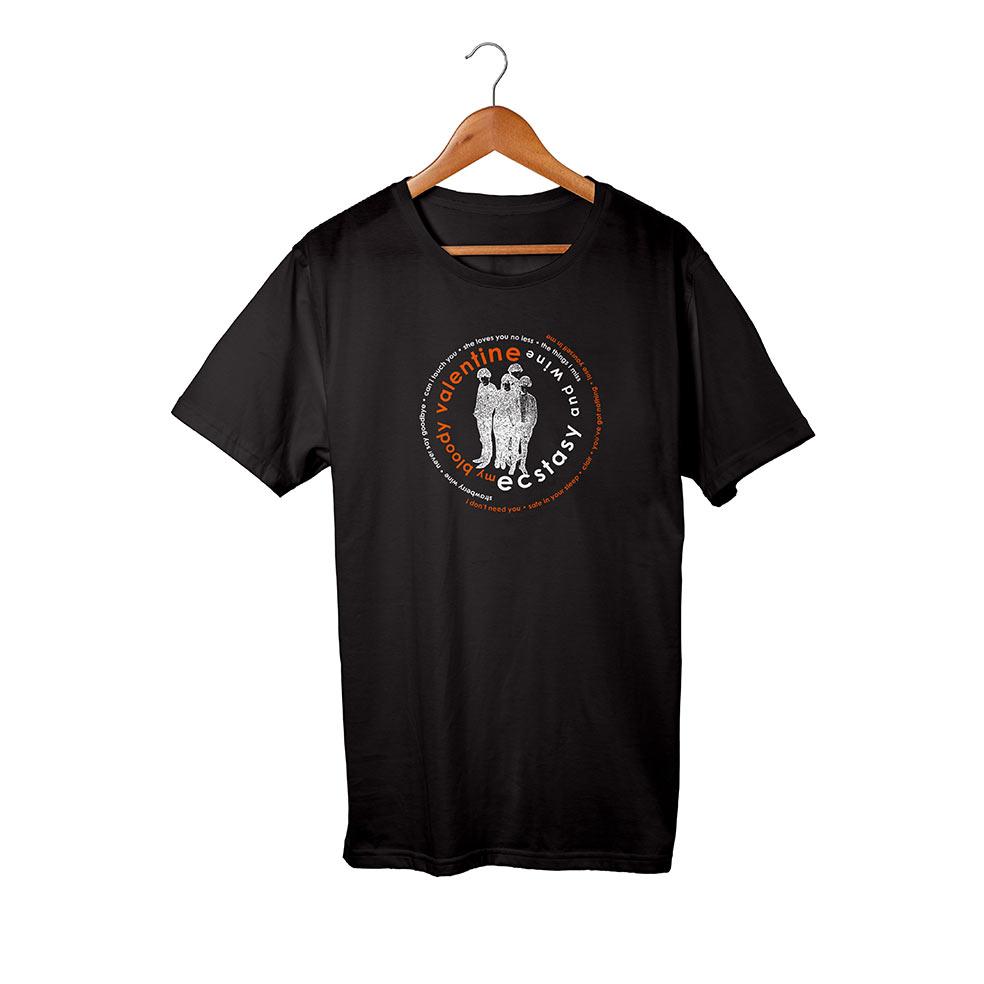 My Bloody Valentine Ecstasy and Wine Black T-Shirt