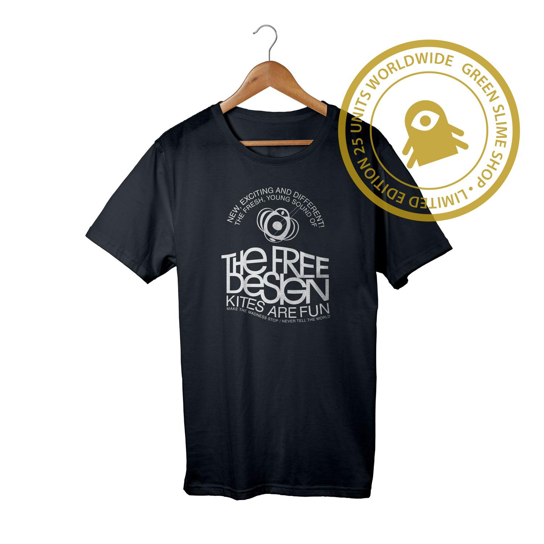 Free Design Kites are fun Black T-Shirt