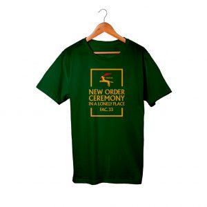New Order Ceremony Dark Green Men Women T-Shirt