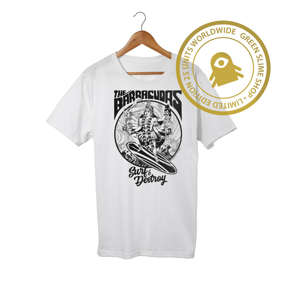 The Barracudas Whirte Tshirt